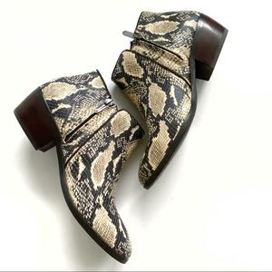 Sam Edelman snakeskin leather Petty ankle boots